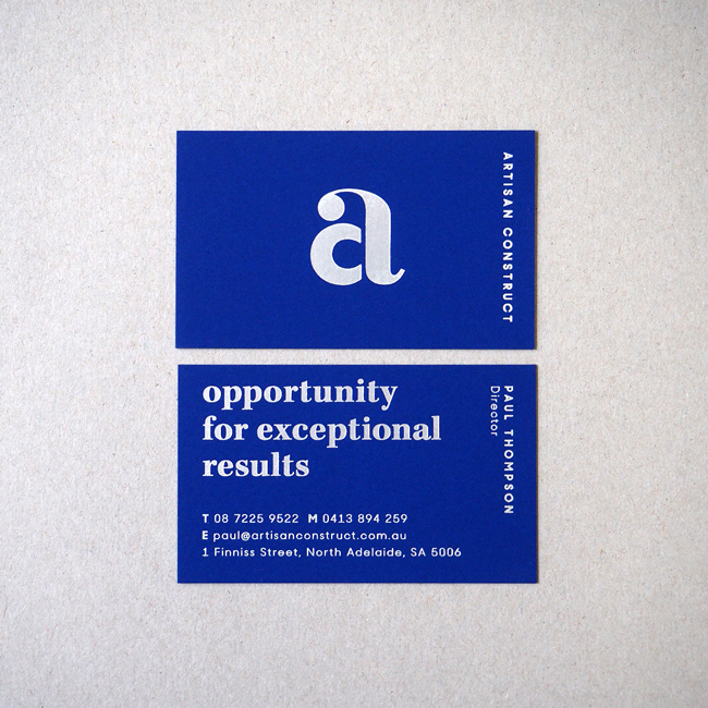Artisan Construct business cards