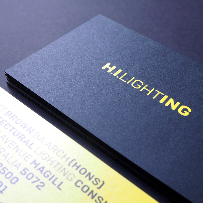 H.I.Lighting business cards